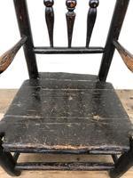 Antique 19th Century Provincial Oak Child's Chair (6 of 8)
