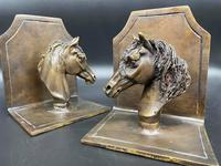 Pair of Bronze Horse Head Bookends (4 of 5)