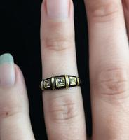Antique Diamond Mourning Ring, 18ct Gold (9 of 9)