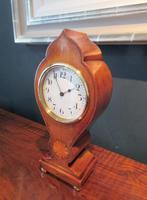 Edwardian Sheraton Teardrop Mantel Clock (5 of 6)