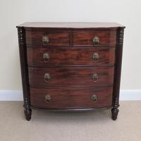 Mahogany Regency Bow Front Chest of Drawers (7 of 7)