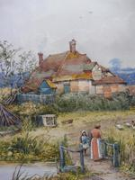Pair of Watercolours Cottages in Kent Listed Artist Will Anderson (6 of 10)