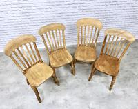 Set of 4 Golden Coloured Lathback Kitchen Chairs (3 of 5)