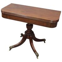 Scottish Mahogany Foldover Tea Table
