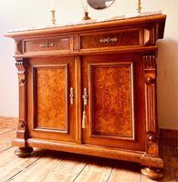 Antique Sideboard / Burr Walnut Sideboard / Walnut Cupboard (2 of 10)