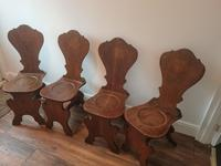 Set of Four Victorian Hall Chairs