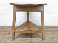 Antique Pine Tripod Side Table (m-2269) (8 of 8)