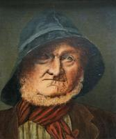 'The Old man' Original Antique 19th Century Victorian Oil Portrait Painting (2 of 11)