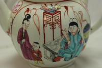 First Period Worcester Hand Painted Teapot (4 of 8)