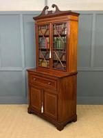 Edwardian Inlaid Mahogany Secretaire Bookcase (21 of 21)