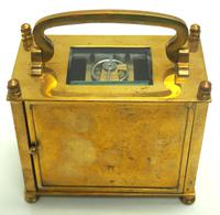 Interesting Antique French 8-day Carriage Clock Rectangle Design (7 of 9)