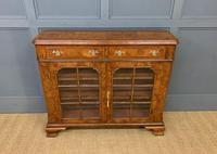 Burr Walnut Bookcase or Side Cabinet (5 of 18)