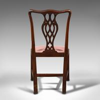 8 Antique Chippendale Revival Chairs, English, Mahogany, Dining Seat, Victorian (6 of 12)