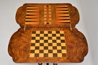 Antique Victorian Burr Walnut Games & Work Table (10 of 14)