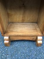 Arts & Crafts Oak Waterfall Open Bookcase (4 of 7)