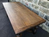 "Large Antique Oak 10ft 6"" Extending Dining (5 of 12)"