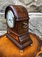 Edwardian Inlaid Mahogany Mantle Clock (2 of 6)
