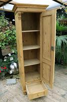 Gorgeous Old Stripped Pine Cupboard / Cabinet / Wardrobe - Hall / Linen / Larder (8 of 11)