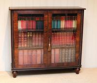 Victorian Rosewood Glazed Bookcase (8 of 10)