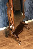 Victorian Walnut Cheval Mirror (5 of 12)