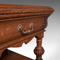 Large Antique Dresser Base, Scottish, Oak, Buffet, Server, Late Victorian, 1880 (8 of 12)