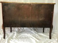 Fine Antique French Empire Style Marble Canted Marquetry Credenza (5 of 12)