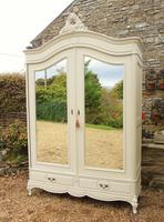 Good Large French Painted Armoire / Wardrobe