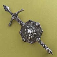 Robert Allison Scottish Silver Kilt Pin Glasgow 1953 (2 of 4)