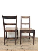 Four 19th Century Oak Back Bar Chairs (10 of 10)