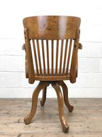 Early 20th Century Antique Swivel Desk Chair (10 of 10)