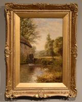 "Oil Painting by John Bonny ""Swans on the Water"" & ""Ducks on the Mill"" (2 of 8)"