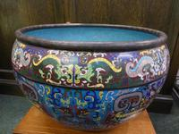 Very Large Impressive Chinese Cloisonné Jardinière Early 20th Century 13 kg