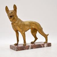 Large Antique Gilt Bronze Dog Sculpture by Robert  Bousquet (2 of 9)