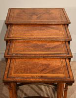 Sheraton Period Amboyna Inlaid Nest of Tables (6 of 6)