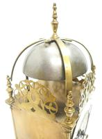 Superb Vintage English Lantern Clock - Pendulum 8-day Striking Mantel Clock c.1890 (10 of 12)