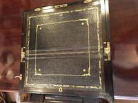 Burr Walnut Brass Inlaid Writing Box (3 of 17)