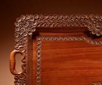 Two Colonial Very Fine Carved Wooden Trays (10 of 13)