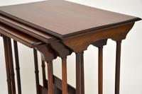 Antique Mahogany Nest of Three Tables (4 of 9)