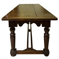 19thc English Oak Refectory Table c1850 (7 of 9)