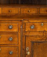 Handsome George III Period Oak Dresser & Rack (9 of 9)