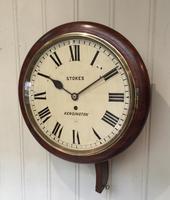 Mahogany Fusee Dial Clock (6 of 19)