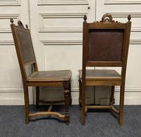 Set of 10 French Walnut Dining Chairs (6 of 15)