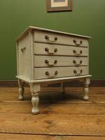 Small Gustavian Style Painted Chest, Crafting Chest of Drawers (15 of 15)