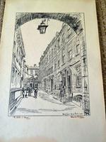 Hanslip Fletcher Original Pen & Ink Drawing & another Lithograph- London Scene 1928 (8 of 9)