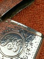 Antique Sterling Silver Hallmarked Vesta Case 1910, Samuel M Levi (6 of 9)