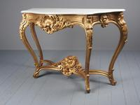 George II Style Marble Top Gilded Console Table (2 of 12)
