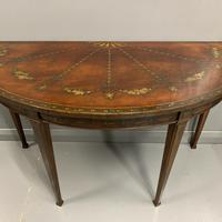 18th Century Decorated Demi-lune Console Table (5 of 11)