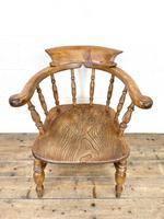 Antique Beech & Elm Smoker's Bow Chair (2 of 8)
