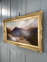 Antique Scottish landscape oil painting with Highland Cattle signed M Allinson 1 of 2 (3 of 10)