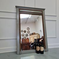 Small Antique French Trumeau Mirror c.1900
